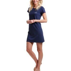 Vineyard Vines Navy Logo T Shirt Dress